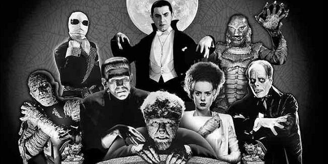 Monstruos del terror clásico reunidos