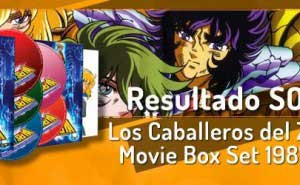 Resultado del sorteo Los Caballeros del Zodiaco Movie Box Set 1987-2004