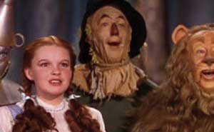 Dorothy y sus compañeros de viaje