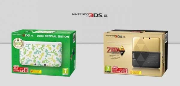 Nintendo 3DS XL Luigi Edition y Zelda Edition