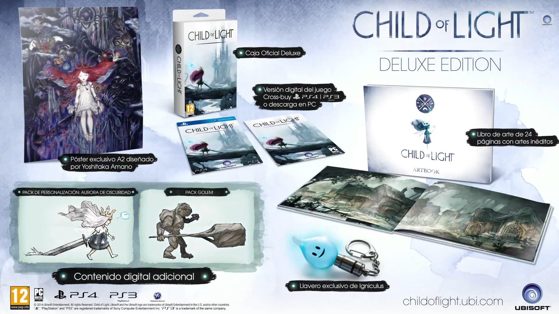 Contenido de la Edición Deluxe de Child of Light