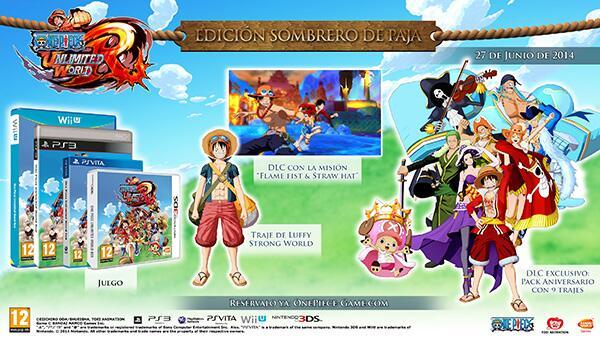 Edición Sombrero de Paja de One Piece Unlimited World Red