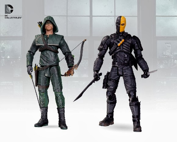 Figuras de Arrow y DeathStroke