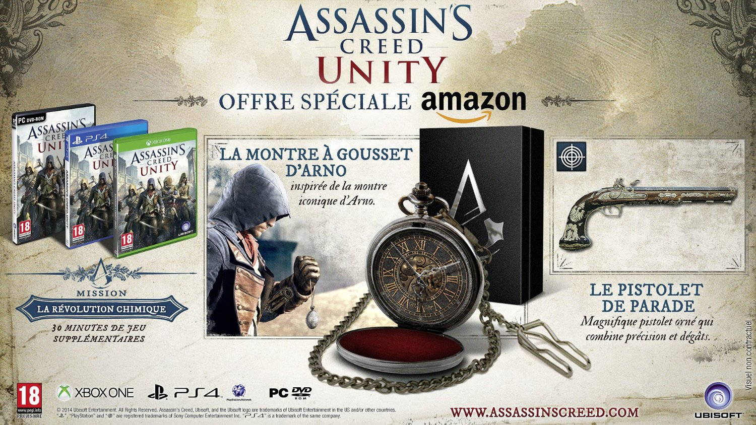 Assassin s creed unity la montre a gousset edition amazon fr