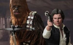 Chewbacca y Han Solo, compañeros en Star Wars