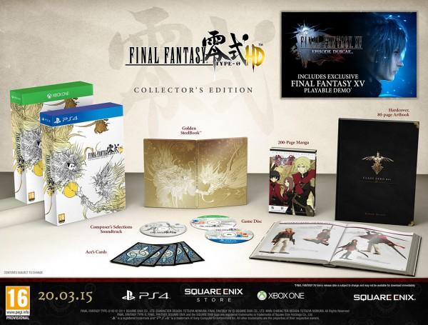 Contenido de la Edición Coleccionista de Final Fantasy Type-0 HD