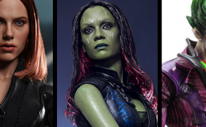 Figuras Black Widow, Gamora y Joker