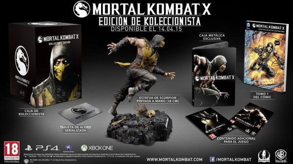 Contenido de la Edición Coleccionista de Mortal Kombat X