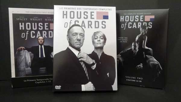 House of Cards Pack DVD Temporadas 1 y 2