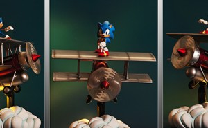 Diorama Exclusivo Sonic El Tornado de First 4 Figures