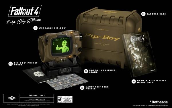 Contenido de la Pip-Boy Edition de Fallout 4