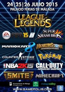 Variedad de torneos para este Gamepolis 2015