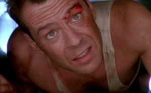 El agente John McLane en una escena de la película