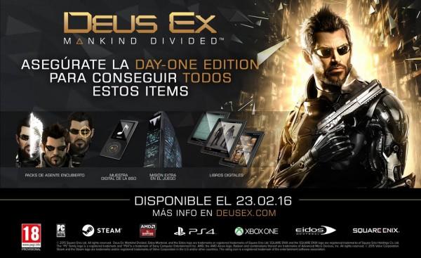 Day-One Edition de Deus Ex Mankind Divided