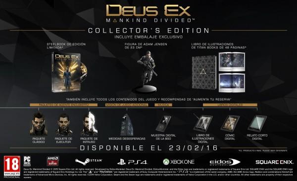Contenido de la Edición Coleccionista de Deus Ex Mankind Divided