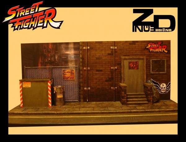 Diorama para figuras de Street Fighter