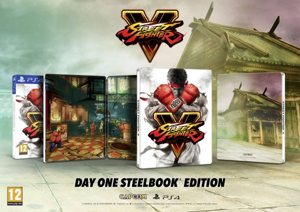 Steelbook Limitada de Street Fighter V