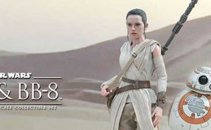 Pack Figuras Star Wars Rey y BB-8 de Hot Toys