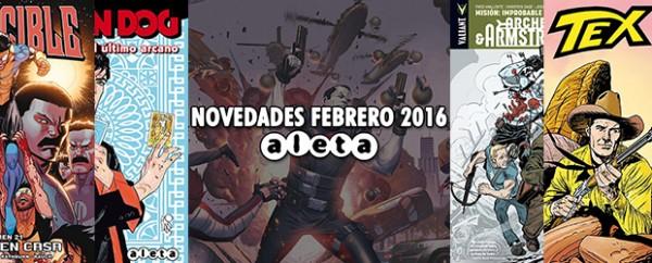 Novedades Aleta Ediciones para este mes de Febrero