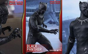 Figura Marvel Black Panther Capitán América Civil War de Hot Toys
