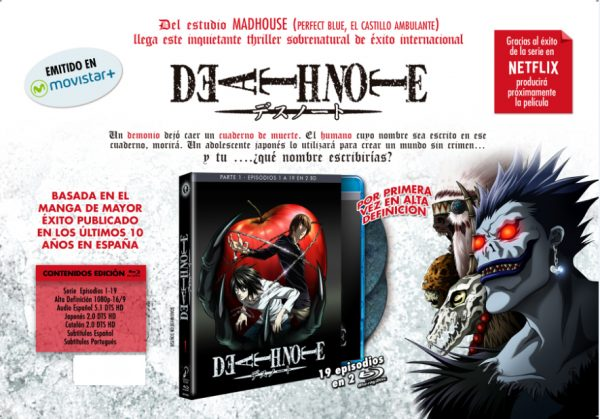 Death Note box 1 en Bluray