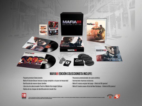 Contenido de la Edición Coleccionista de Mafia 3