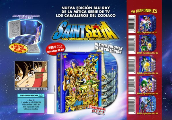 Saint Seiya: box 6 en Bluray