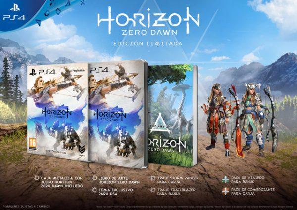 Contenido de la Edición Limitada de Horizon: Zero Dawn