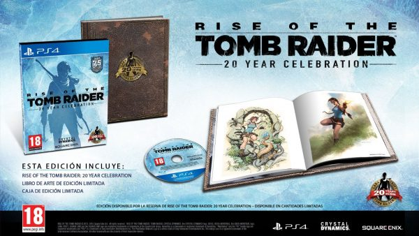 Contenido Edición 20 Aniversario de Rise of the Tomb Raider