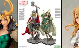 Figuras Marvel Thor y Lady Loki de la Colección Bishoujo