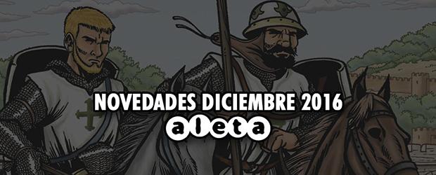 Novedades de Aleta Ediciones para Diciembre de 2016
