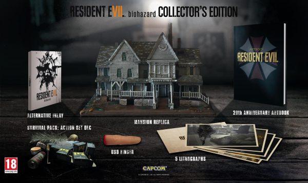 Edición Coleccionista Europea de Resident Evil 7 Biohazard: