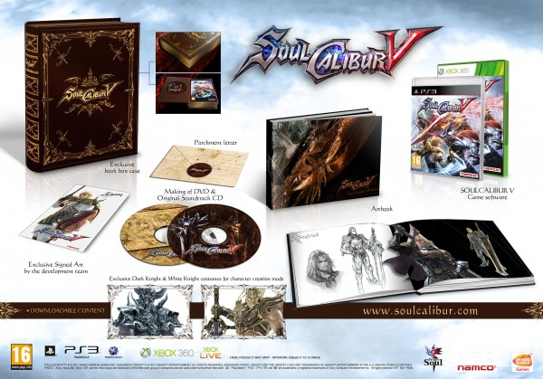 Material especial Soul Calibur V Edición Coleccionista
