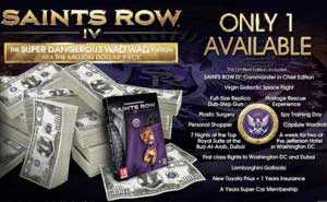 saints row iv super dangerous wad wad edition the million dollar pack