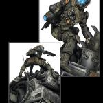 Detalles de la figura de la edición coleccionista de Titanfall