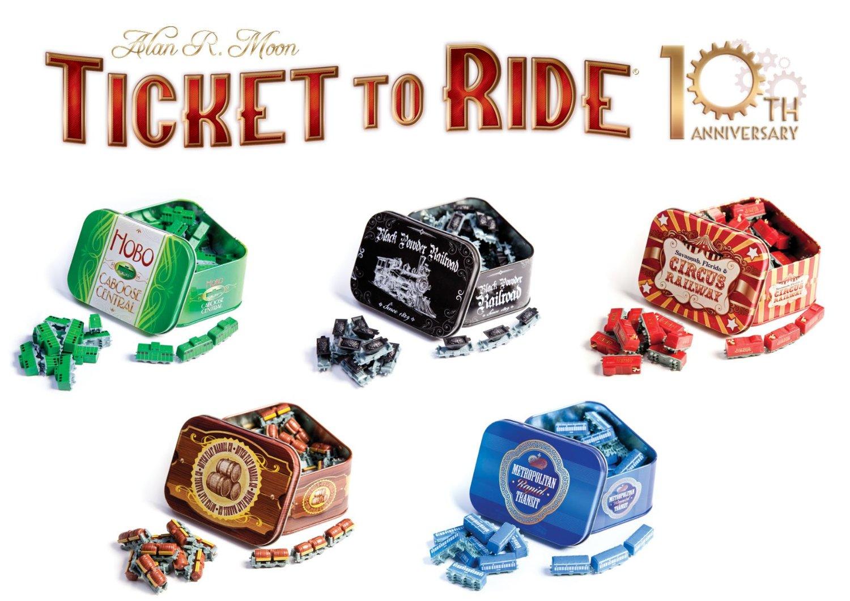 Nueva edición para Ticket To Ride por el 10º Aniversario