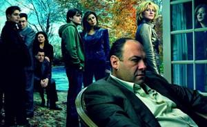 Algunos personajes de Los Soprano, con Tony Soprano a la cabeza