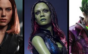 Figuras Black Widow, Gamora y Joker
