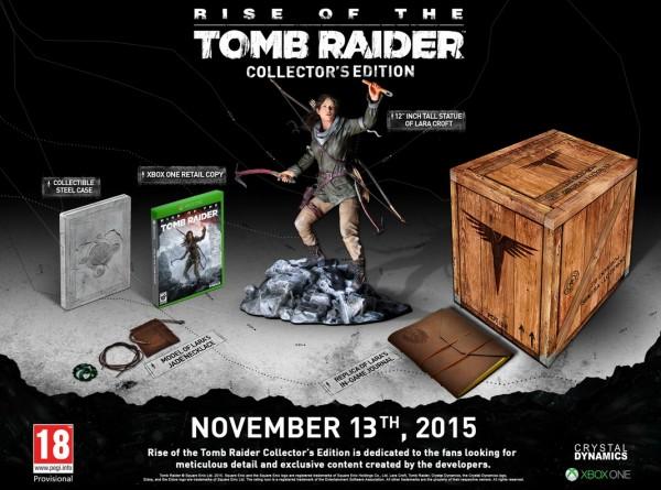 Contenido de la Edición Coleccionista de Rise of the Tomb Raider