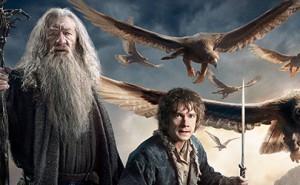 Gandalf y Bilbo en El Hobbit: La Batalla de los Cinco Ejércitos