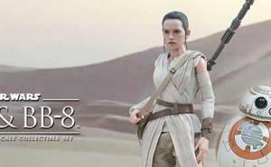 Pack Figuras Star Wars Rey y BB-8 de Hot Toys