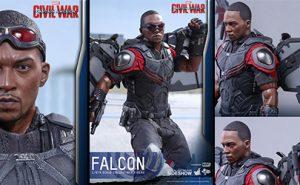 Figura Marvel Falcon Capitán América Civil War de Hot Toys