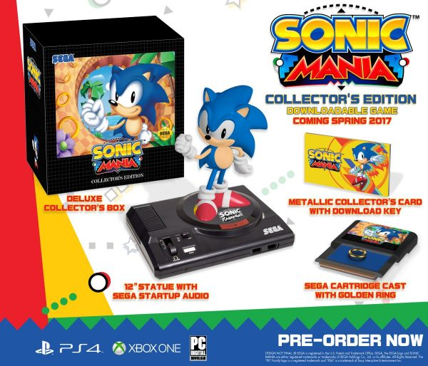 Contenido de la Edición Coleccionista de Sonic Manía