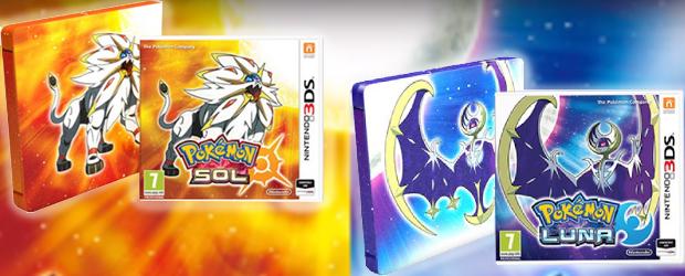 Ediciones de Pokémon Sol y Luna para Nintendo 3DS y 2DS