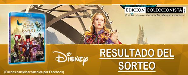 Resultado del sorteo de un Blu-ray de Alicia a Través del Espejo