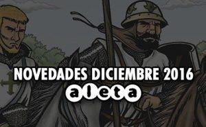 Aleta Ediciones, Novedades mes de Diciembre 2016